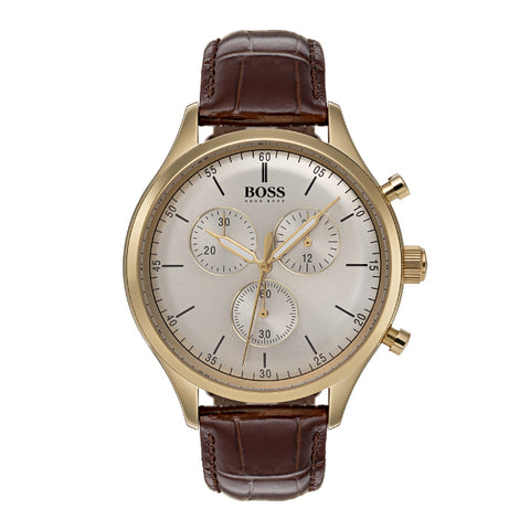 Hugo Boss Companion Gents Leather Watch 1513545