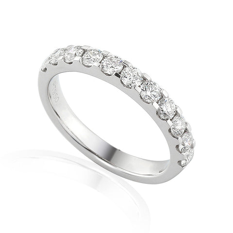 CLAW SET DIAMOND ETERNITY OR WEDDING RING-Plain Wedding Band-Design Centre Jewellery