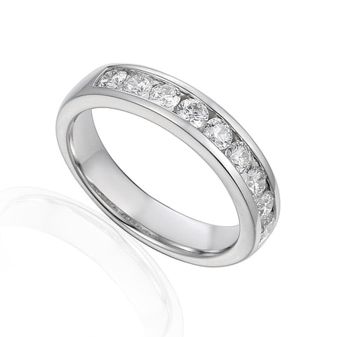 CLASSIC CHANNEL SET DIAMOND ETERNITY OR WEDDING RING-Plain Wedding Band-Design Centre Jewellery