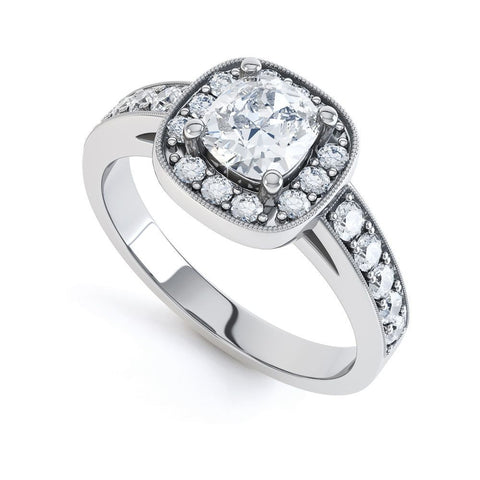 JACKIE - 37252R2M-Diamond Engagement Ring-Design Centre Jewellery