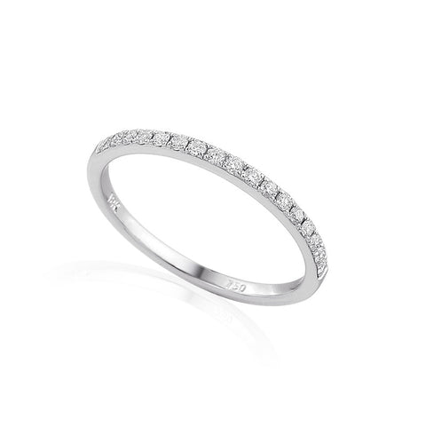 VERY NARROW DIAMOND CLAW SET ETERNITY OR WEDDING RING-Plain Wedding Band-Design Centre Jewellery