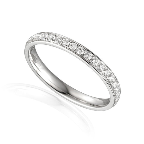 VINTAGE STYLE DIAMOND SET ETERNITY OR WEDDING RING-Plain Wedding Band-Design Centre Jewellery