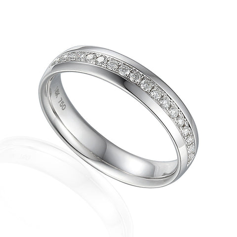 DIAMOND SET ETERNITY OR WEDDING RING-Plain Wedding Band-Design Centre Jewellery