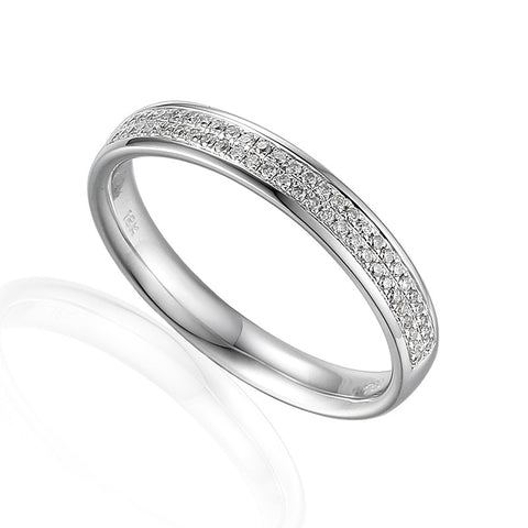 bespoke rings shape plain white curved v ring gold wedding shaped