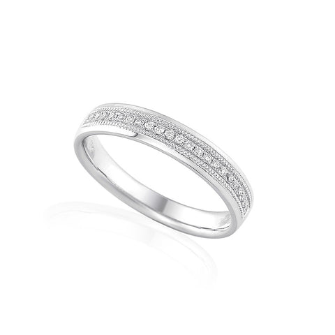 DIAMOND SET WEDDING OR ETERNITY RING-Plain Wedding Band-Design Centre Jewellery