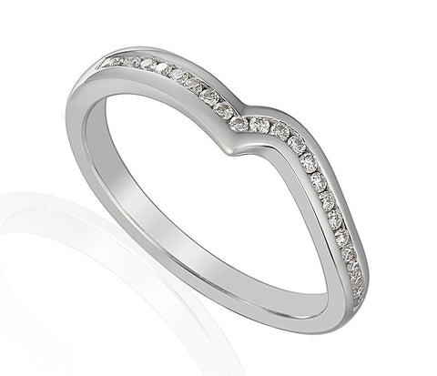 SHAPED DIAMOND SET WEDDING BAND-Plain Wedding Band-Design Centre Jewellery