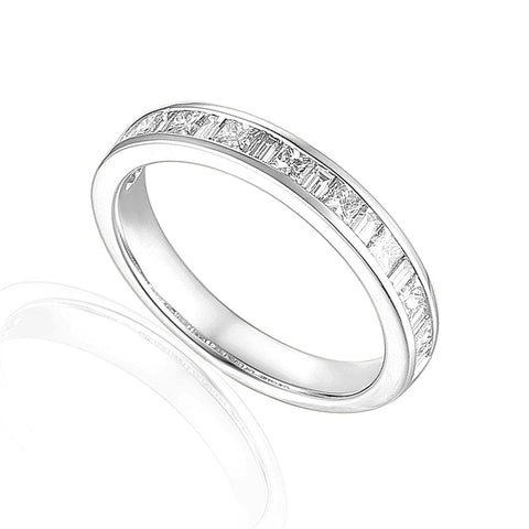 PRINCESS AND BAGUETTE DIAMOND ETERNITY OR WEDDING RING-Plain Wedding Band-Design Centre Jewellery