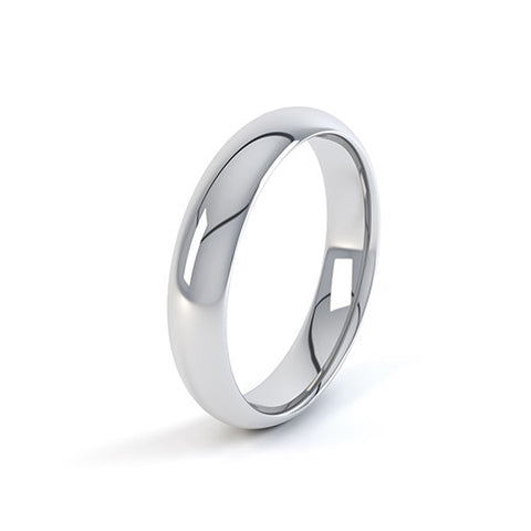 Slight Court Profile Wedding Band-Plain Wedding Band-Design Centre Jewellery