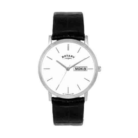 Rotary Mens Black Leather Strap Watch - GSI02624/03/DD