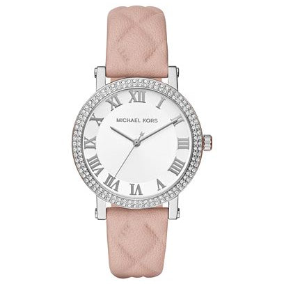 Michael KorsLadies Norie Stone Set Pink Strap Watch MK2617