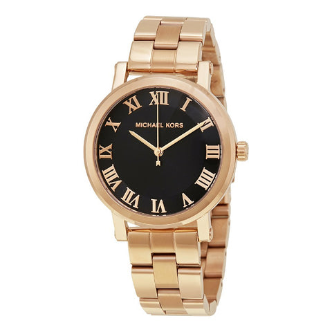 Michael Kors Ladies Norie Rose Gold Plated Bracelet Watch MK3585