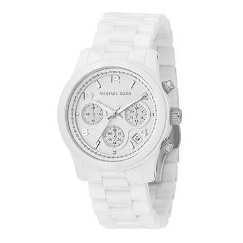 Michael Kors Ladies Chronograph White Ceramic Watch MK5161