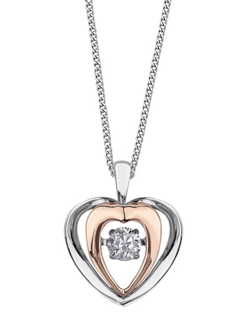 PULSE DIAMOND PENDANT-3117RWG-Pendants-Design Centre Jewellery