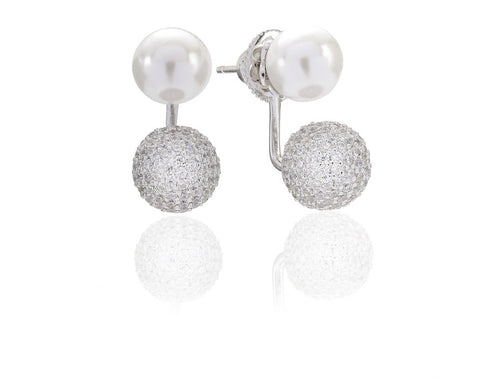 BOBBIO DUE PEARL EAR JACKETS BY SIF JAKOBS-Design Centre Jewellery