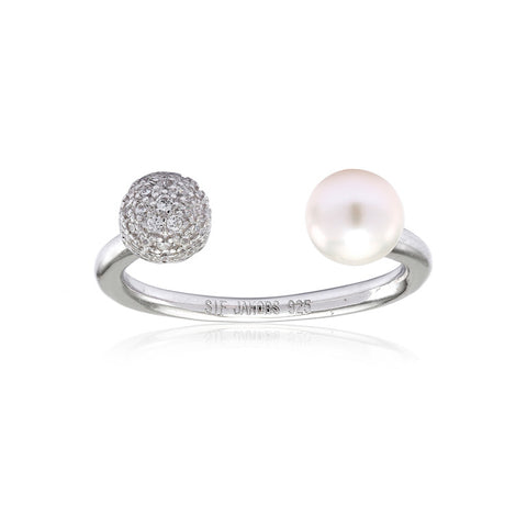 BOBBIO DUE PEARL RING BY SIF JAKOBS