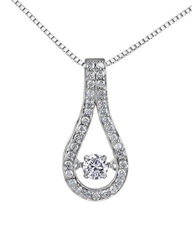 PULSE DIAMOND PENDANT-3071WG-Pendants-Design Centre Jewellery