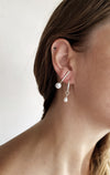 White J earrings // Sterling silver