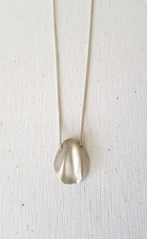 Small leaf necklace // Sterling silver