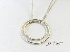 Necklace Full Moon // Sterling Silver