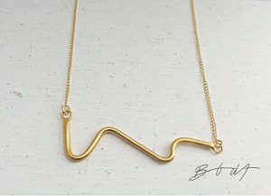 Necklace Wave // Gold Plated