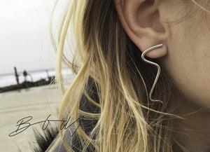 Earrings Wave // Sterling Silver