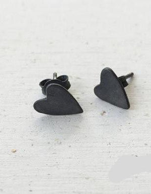 Earrings Love is... // Oxidized Silver