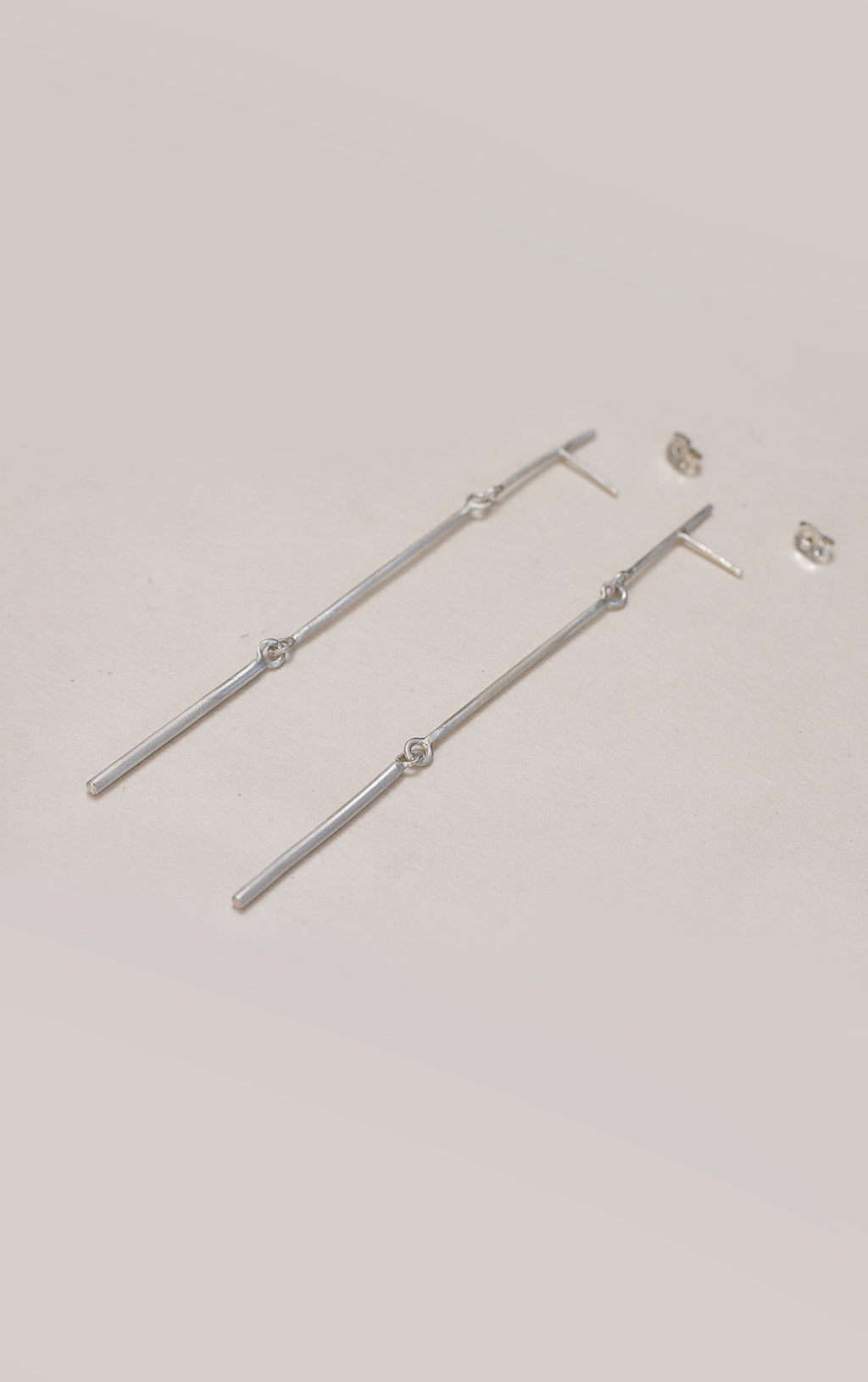 Long Bar stud earrings // Sterling silver