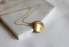 Gold Shell Necklace // Gold plated sterling silver