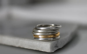 Stackable band ring // Sterling Silver