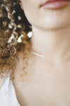 Silver Bow Necklace // Sterling Silver