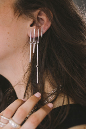 Asymmetrical earrings // Sterling silver