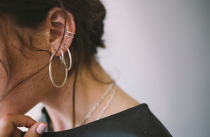 Hoop Earrings // Sterling Silver
