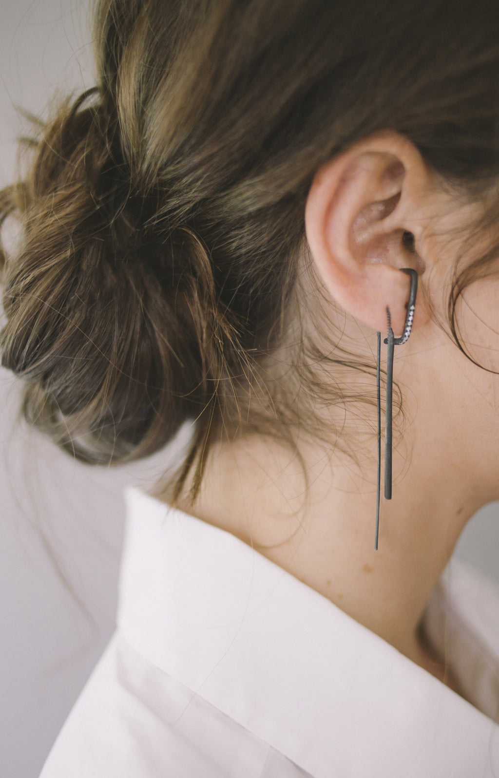Long bar earrings // Sterling silver