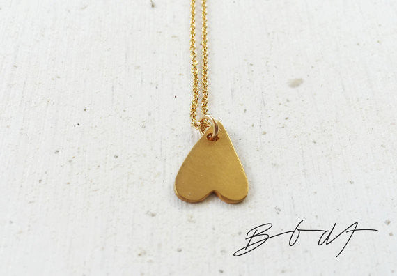 Pendant Love is... // Gold Plated