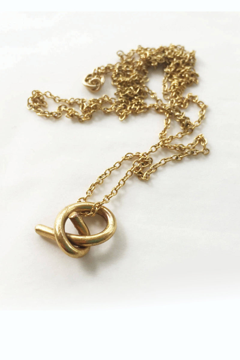 Pendant Knot // Gold Plated