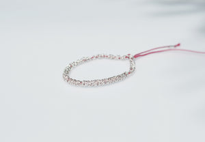 Red Thread Bracelet // Sterling Silver