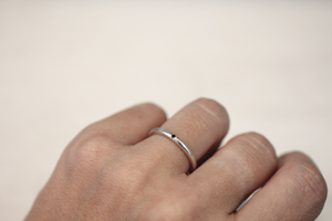 Line stone ring // Sterling silver
