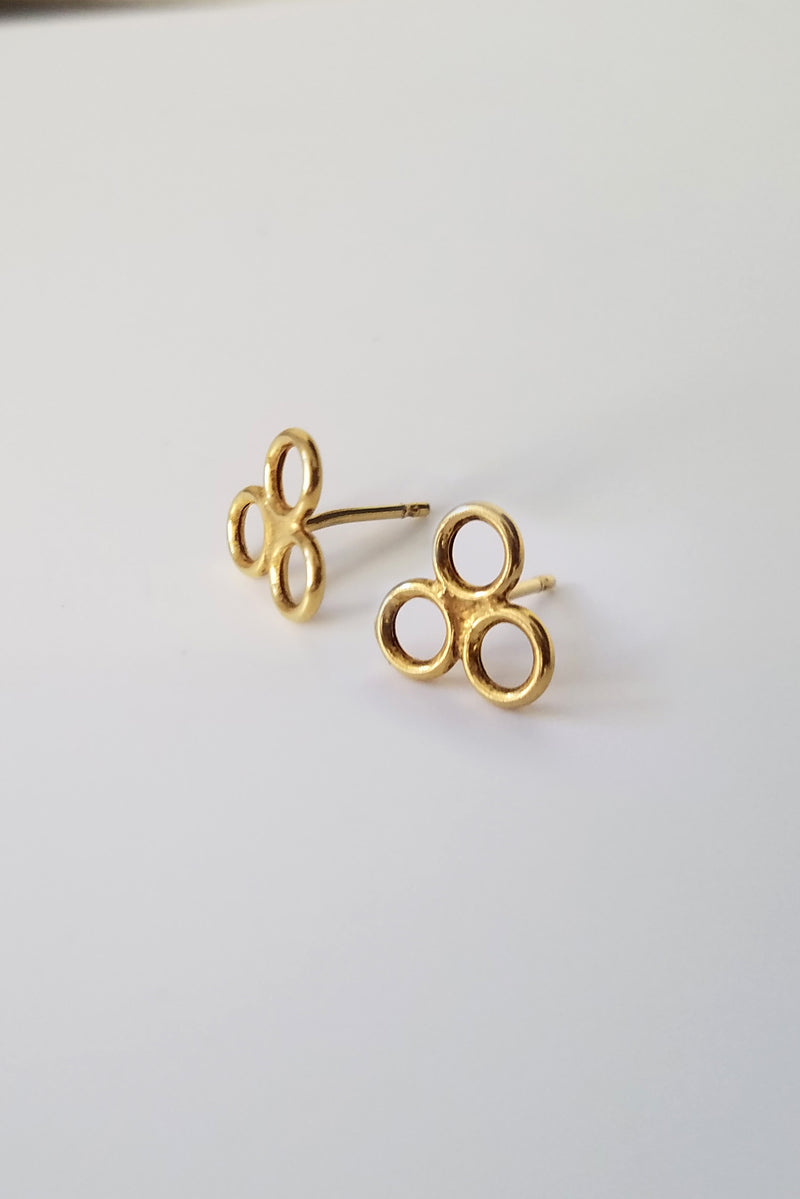 Earrings Lucky Clover // Gold Plated