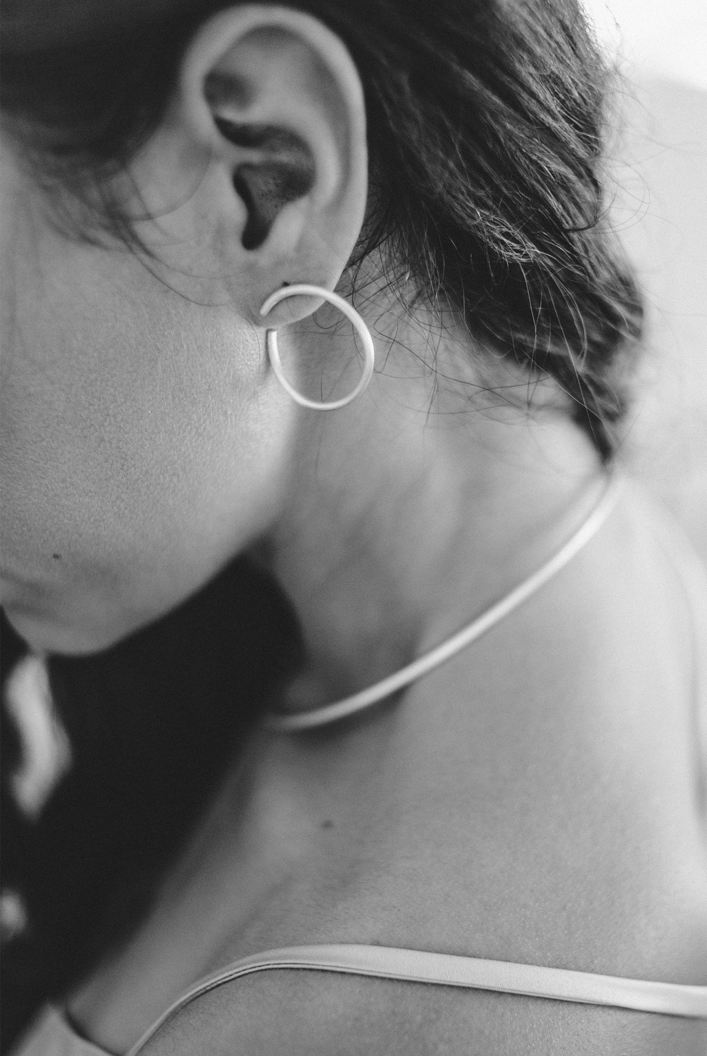 Gappy Moon Earrings // Sterling Silver