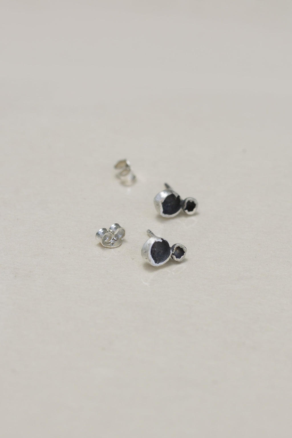 Stone Sells studs // Sterling silver