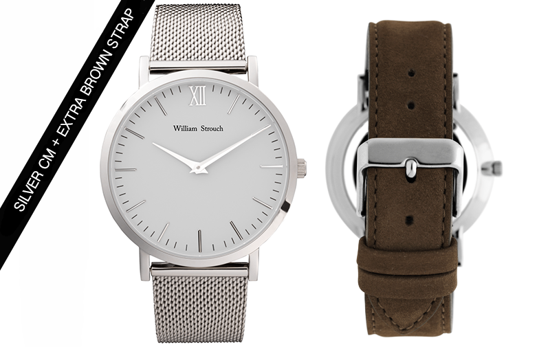 William Strouch Silver Watch + Strap