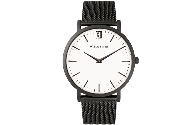 William Strouch Black And White Watch