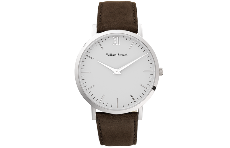 William Strouch Silver And Brown Watch Pre-Order