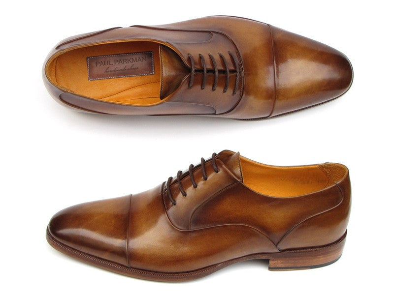 Paul Parkman Men's Captoe Oxfords Brown Leather