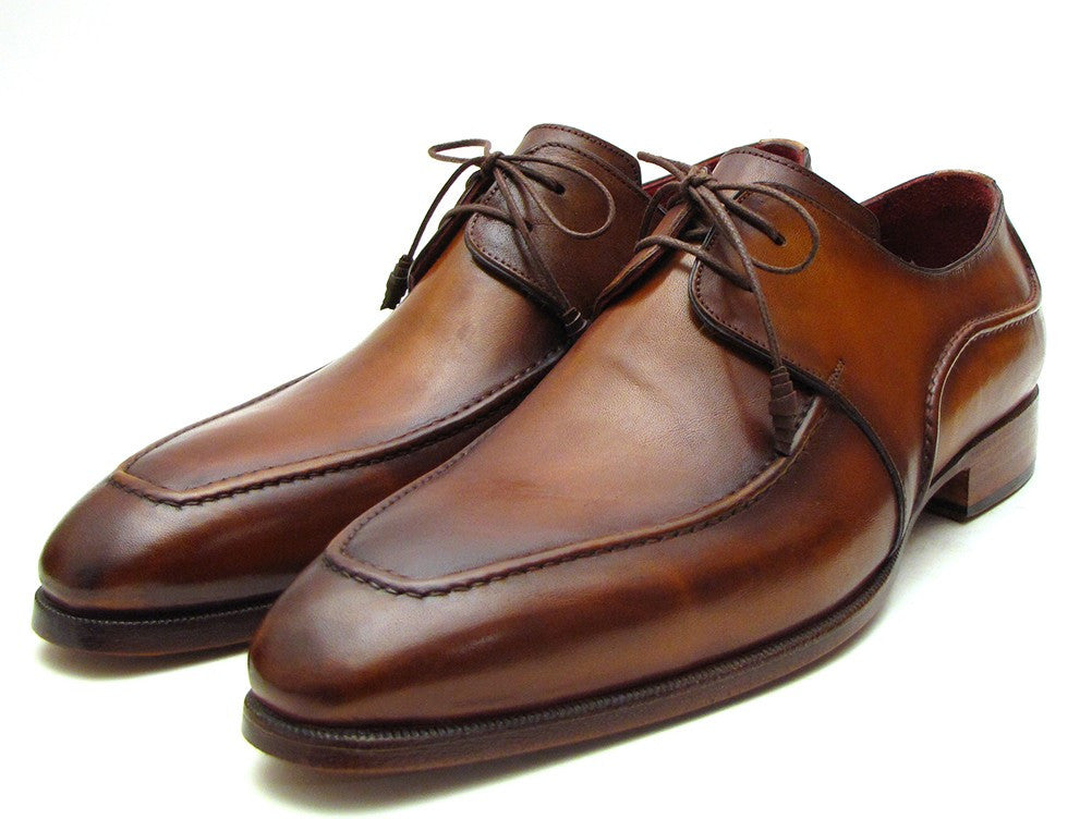 Paul Parkman Brown Derby Dress Shoes For Men