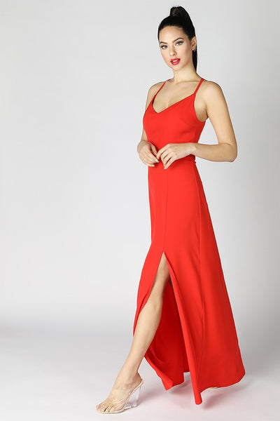 Novalee Scarlet Maxi Gown - My Royal Closet