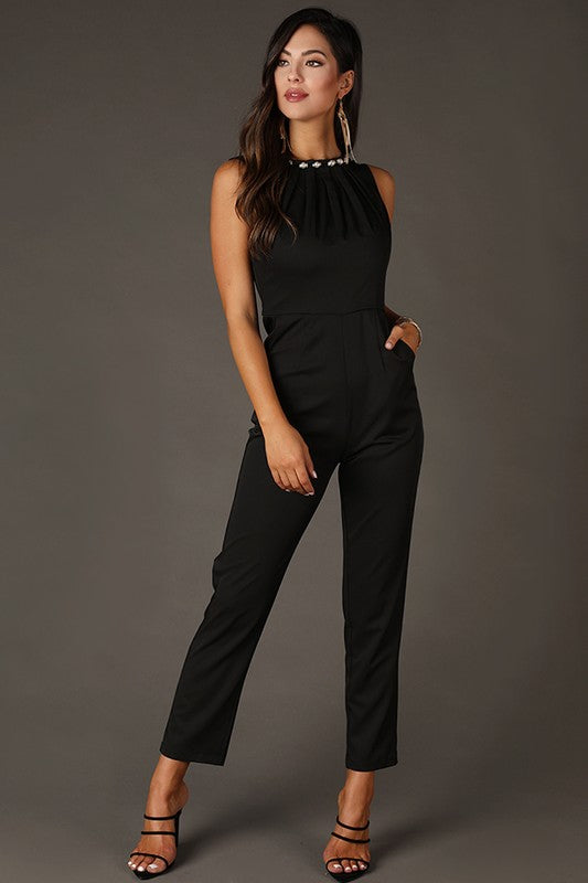 Off-Shoulder Ruffles Jumpsuit