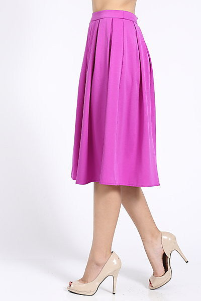 A-Line Magenta Skirt - My Royal Closet