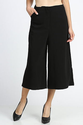 Wide Leg Black Culottes