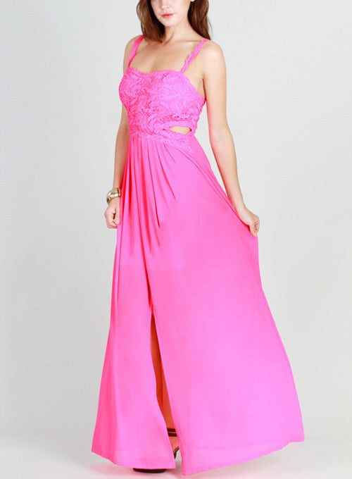 Katherine Hot Pink Maxi - My Royal Closet
